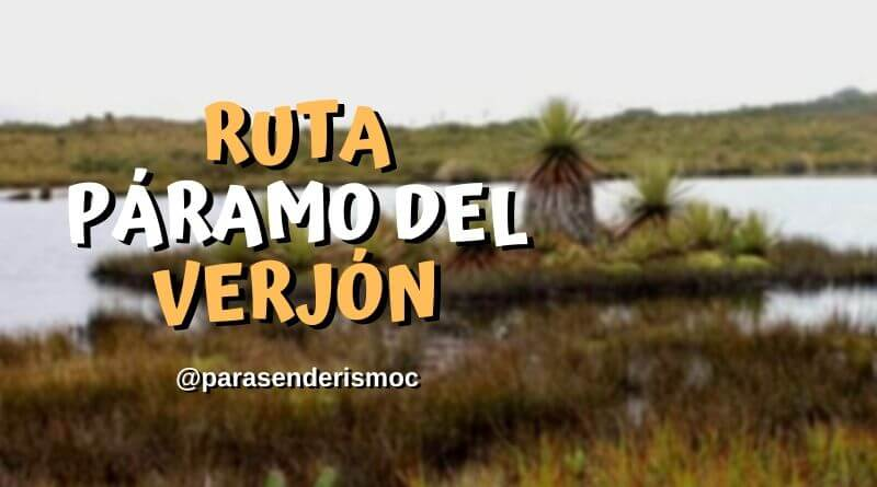 Ruta páramo del Verjón - Mirador de Guadalupe