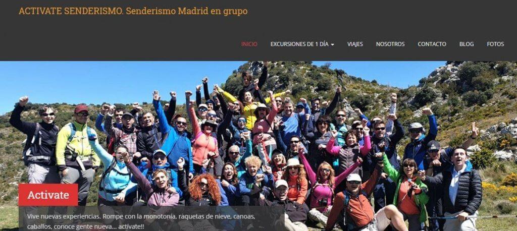 Activate Senderismo. Senderismo Madrid en grupo