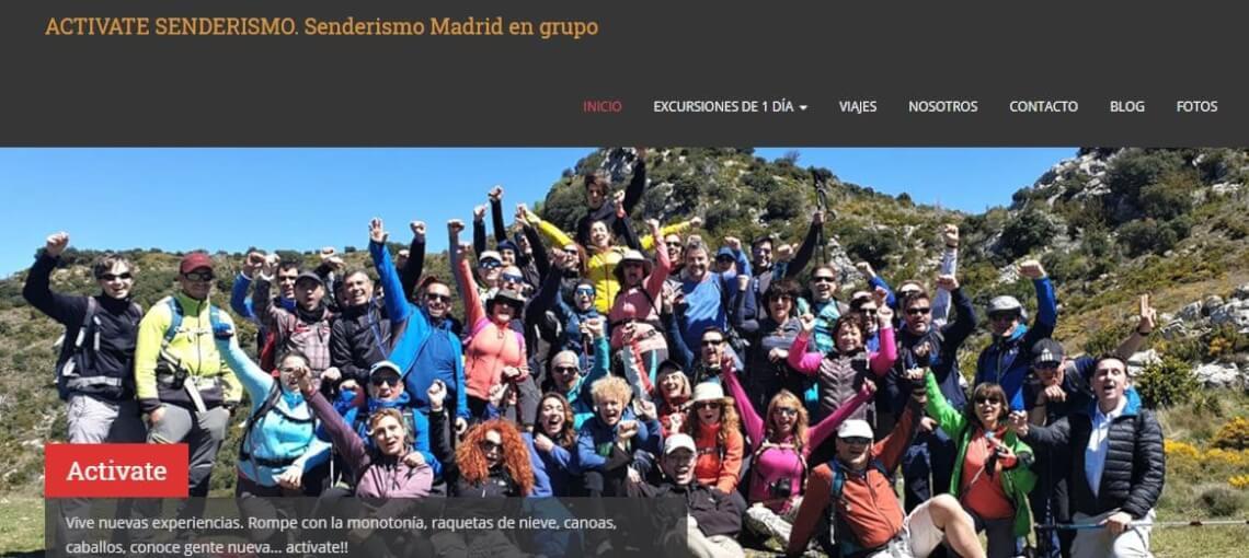 Actívate Senderismo. Senderismo Madrid en grupo