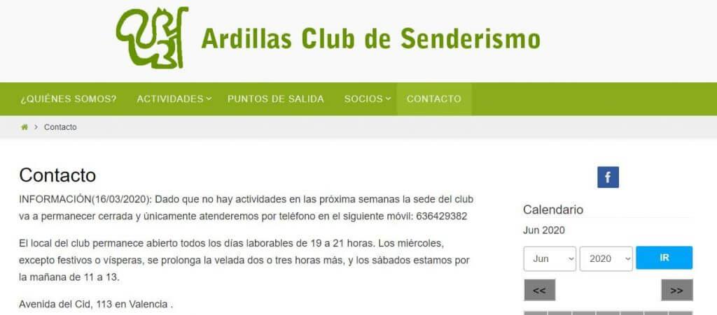 Club de senderismo Ardillas