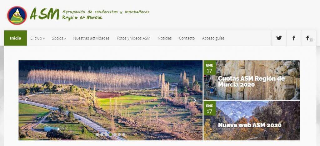 Agrupación de senderistas y montañeros región de Murcia