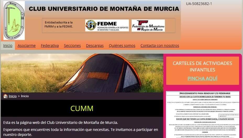 Club universitario de montaña de Murcia